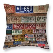 License To Drive Throw Pillow by Debra and Dave Vanderlaan