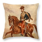 Lieutenant Colonel James Thomas Brudenell  Throw Pillow by Alfred de Prades