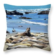 Life At The Rookery Throw Pillow by Lynn Bauer