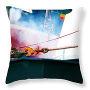 Lifeboat Chocks Away Throw Pillow by Terri  Waters