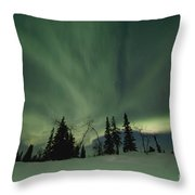 Light Dancers Throw Pillow by Priska Wettstein