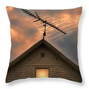Light In Attic Window Throw Pillow by Jill Battaglia