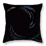 Light Trails Throw Pillow by Cheryl Young