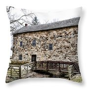 Lightfoot Mill At Anselma Chester County Throw Pillow by Bill Cannon