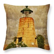Lighthouse - La Coruna Throw Pillow by Mary Machare