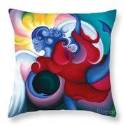 Lighting The Dark Throw Pillow by Tiffany Davis-Rustam