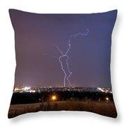 Lightning Composite 1 Throw Pillow by Benjamin Reed
