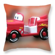 Lightning Mcqueen Throw Pillow by Thomas Woolworth
