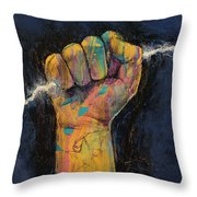 Lightning Throw Pillow by Michael Creese