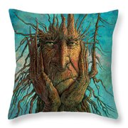 Lightninghead Throw Pillow by Frank Robert Dixon