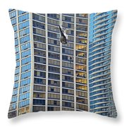 Lights - Camera - Action - Movie Backdrop Chicago Throw Pillow by Christine Till