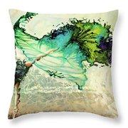 Like Air I Will Raise Throw Pillow by Karina Llergo
