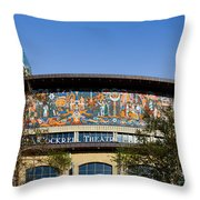 Lila Cockrell Theatre - San Antonio Throw Pillow by Christine Till