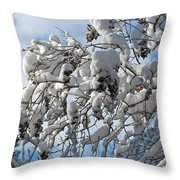 Lilac In Winter Throw Pillow by Michele Myers