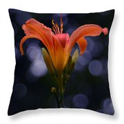 Lily After A Shower Throw Pillow by Raymond Salani III