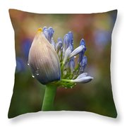 Lily Of The Nile Throw Pillow by Rona Black