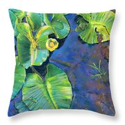 Lily Pads Throw Pillow by Nick Payne