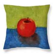 Lime Apple Lemon Throw Pillow by Michelle Calkins