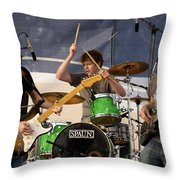 Lincoln Brewster And Band Throw Pillow by Bill Gallagher