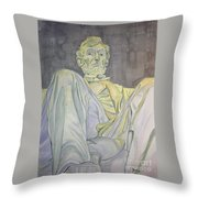 Lincoln Throw Pillow by Regan J Smith