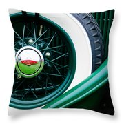 Lincoln Spare Tire Emblem Throw Pillow by Jill Reger