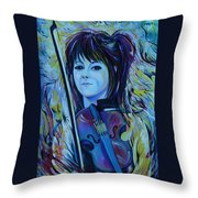 Lindsey Stirling Throw Pillow by Anna  Duyunova