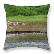 Line Dance Throw Pillow by Sharon Talson