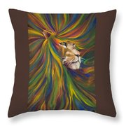 Lion Throw Pillow by Kd Neeley