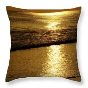 Liquid Gold Throw Pillow by Sandy Keeton