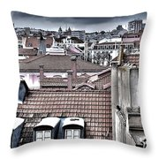 Lisbon Rooftops I Throw Pillow by Marco Oliveira