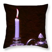 Lit Candle Throw Pillow by Amanda And Christopher Elwell