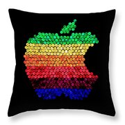 Lite Brite Macintosh Throw Pillow by Benjamin Yeager