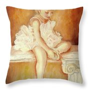 LITTLE BALLERINA Throw Pillow by CAROLE SPANDAU