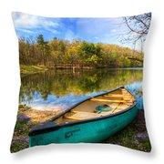 Little Bit Of Heaven Throw Pillow by Debra and Dave Vanderlaan