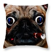 Little Capone - c28169 - Electric Art - With Text Throw Pillow by Wingsdomain Art and Photography