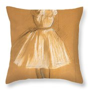 Little Dancer Throw Pillow by Edgar Degas