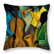 Little Jazz Trio IIi Throw Pillow by Larry Martin