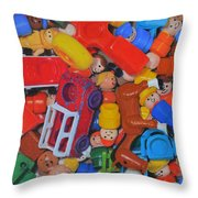 Little Peoples Throw Pillow by Joanne Grant