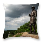 Little Round Top Hill Gettysburg Throw Pillow by James Brunker