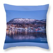 Little Town Of Camden Throw Pillow by Susan Cole Kelly