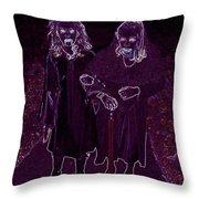 Little Vampires Throw Pillow by First Star Art