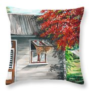 Little West Indian House 1 Throw Pillow by Karin  Dawn Kelshall- Best