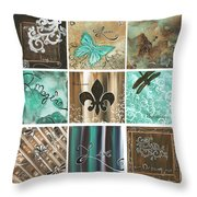 Live And Love By Madart Throw Pillow by Megan Duncanson