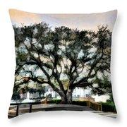 Live Oak Artistic Trendering Throw Pillow by Dan Friend