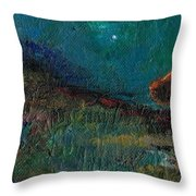 Living On The Edge Throw Pillow by Frances Marino