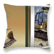 Loader - Cross Your Eyes And Focus On The Middle Image Throw Pillow by Brian Wallace