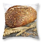 Loaf Of Multigrain Bread Throw Pillow by Elena Elisseeva