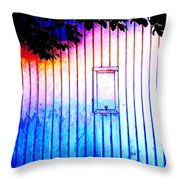 Location 54 North  A Shed Full Of Surprises Throw Pillow by Sir Josef - Social Critic - ART