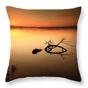 Loch Leven Sunset Throw Pillow by Grant Glendinning