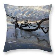 Loch Ness Throw Pillow by Debra and Dave Vanderlaan